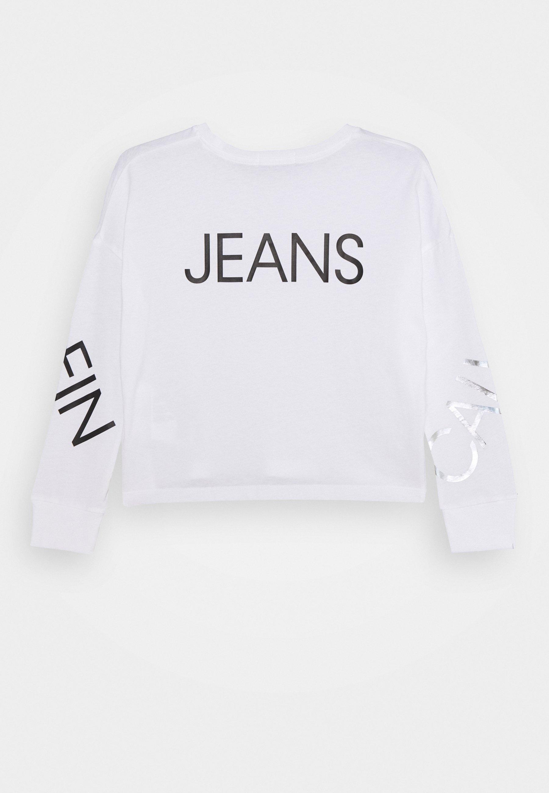 Calvin Klein Jeans LOGO T shirt à manches longues white