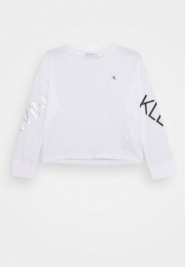 HERO LOGO  - Pitkähihainen paita - white