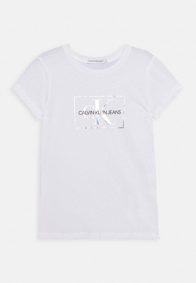 SMALL MONOGRAM - T-shirt imprimé - white