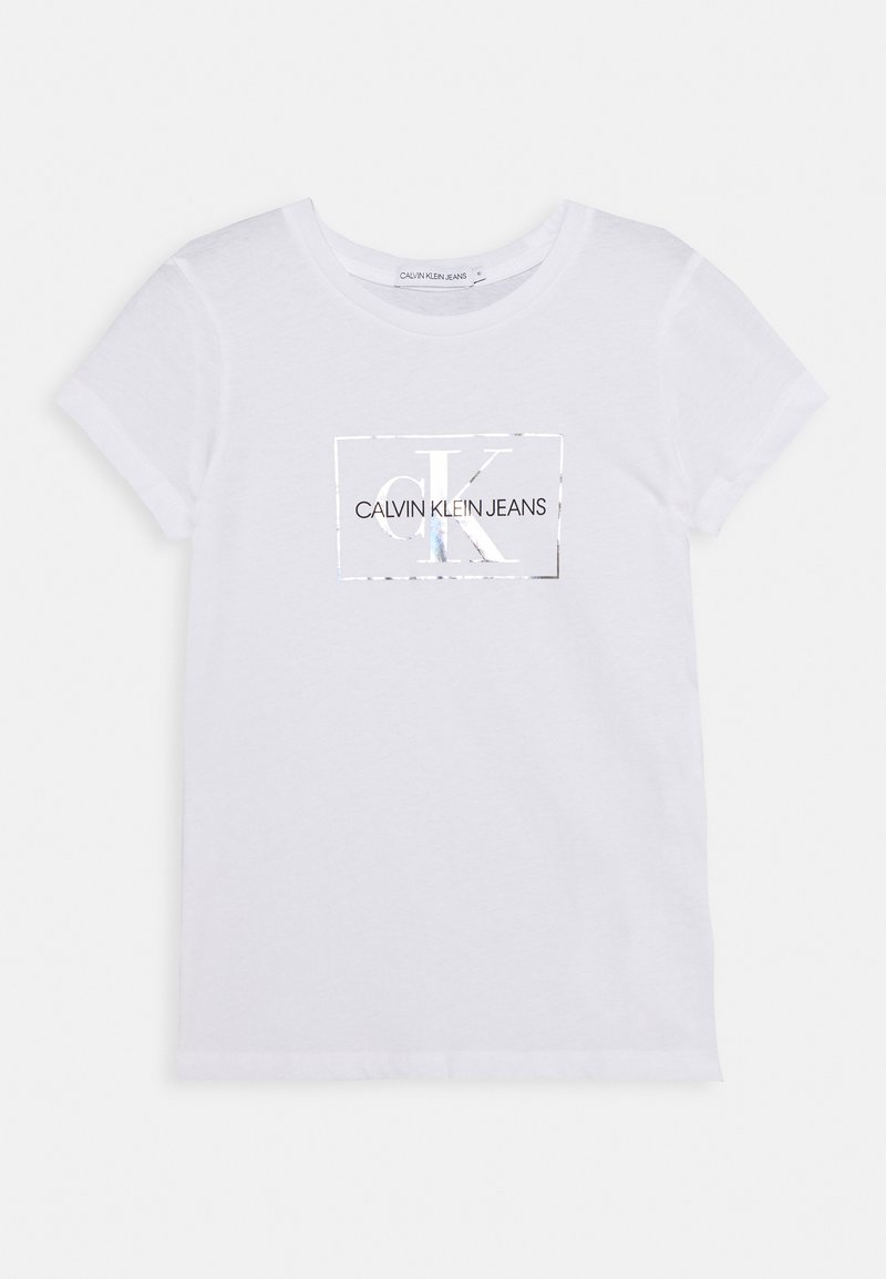 Calvin Klein Jeans - SMALL MONOGRAM - T-shirt print - white