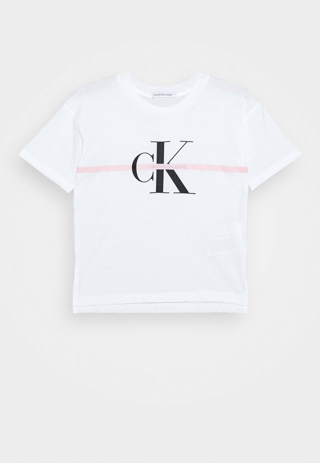 MONOGRAM STRIPE - T-shirt print - white