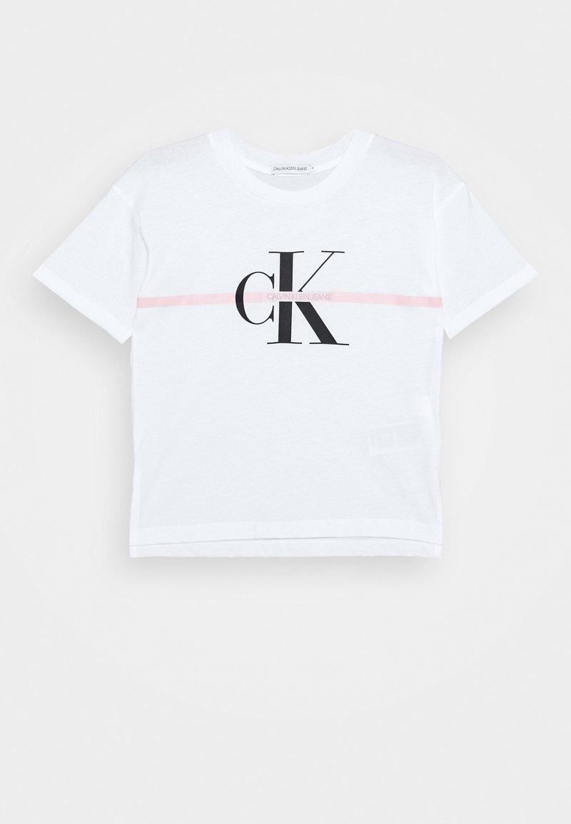 Calvin Klein Jeans - MONOGRAM STRIPE - T-shirt print - white