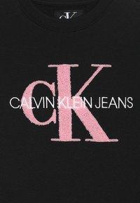Calvin Klein Jeans - MONOGRAM GIRLS - Mikina - black - 3