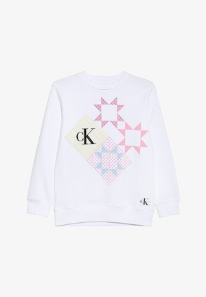 PATCHWORK PRINT LONG - Sweatshirt - white