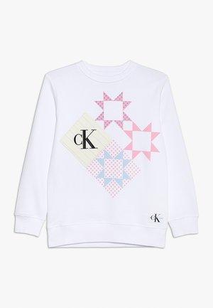 PATCHWORK PRINT LONG - Sweatshirt - white