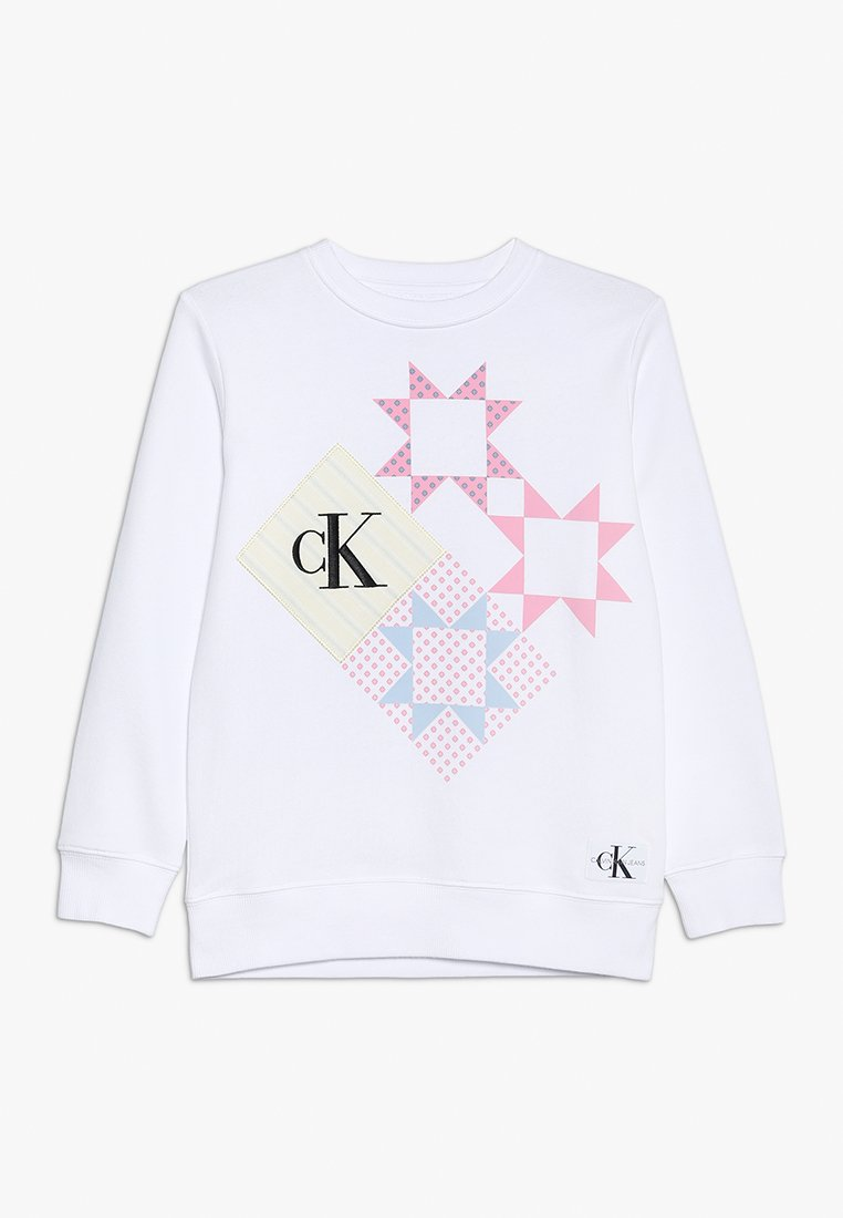 Calvin Klein Jeans - PATCHWORK PRINT LONG - Sweater - white