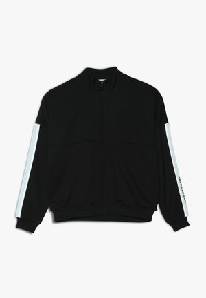 SIDE STRIPE ZIP JACKET GIRLS - veste en sweat zippée - black