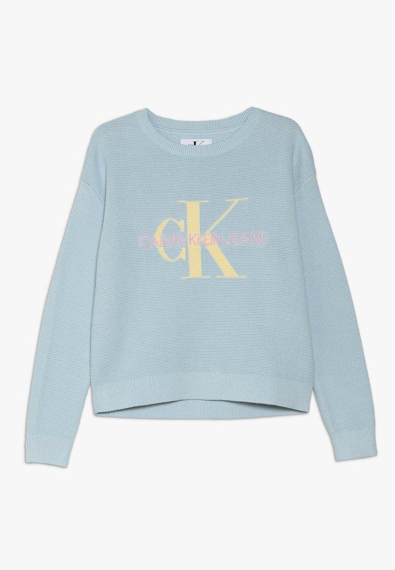 Calvin Klein Jeans - MONOGRAM - Strikkegenser - blue