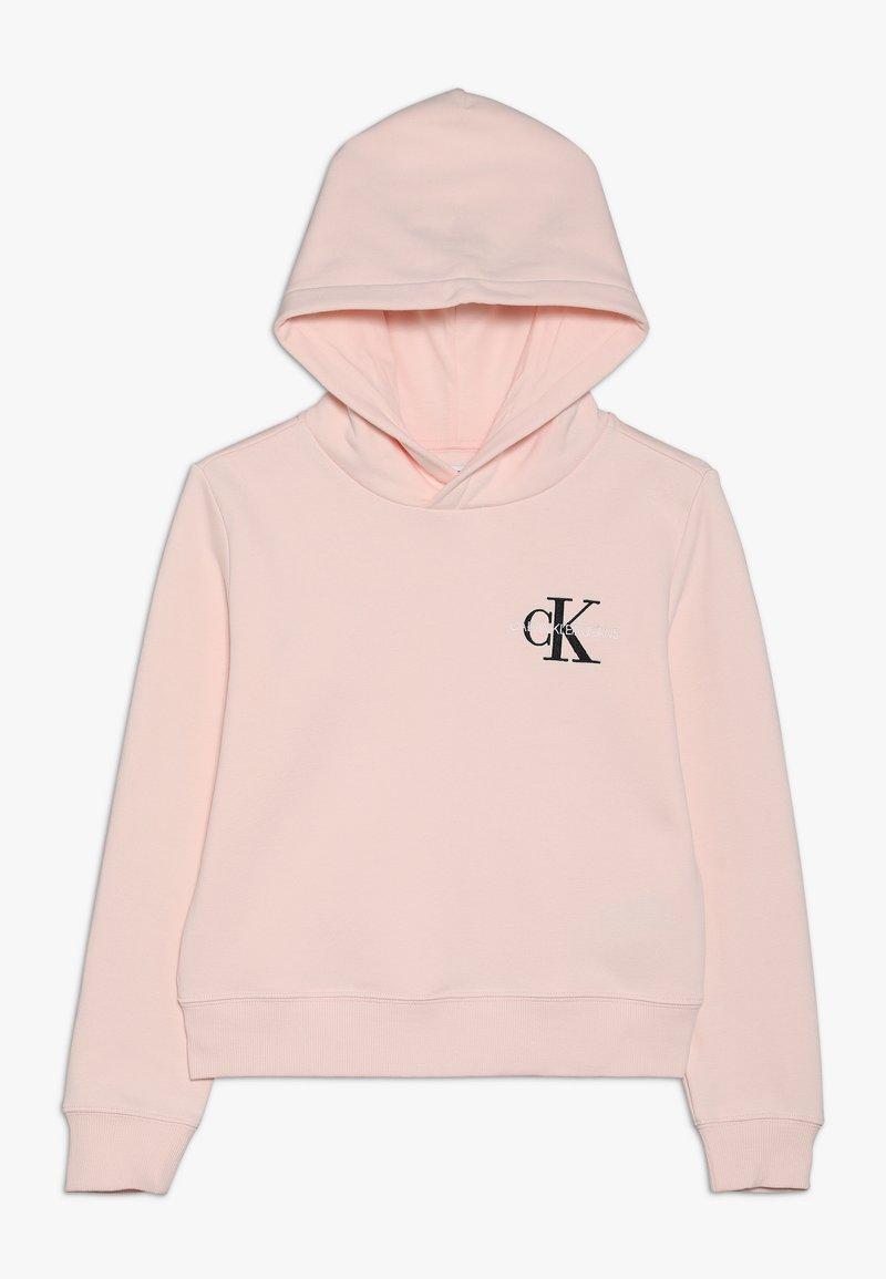 Calvin Klein Jeans - SMALL MONOGRAM BOXY HOODIE - Hoodie - pink