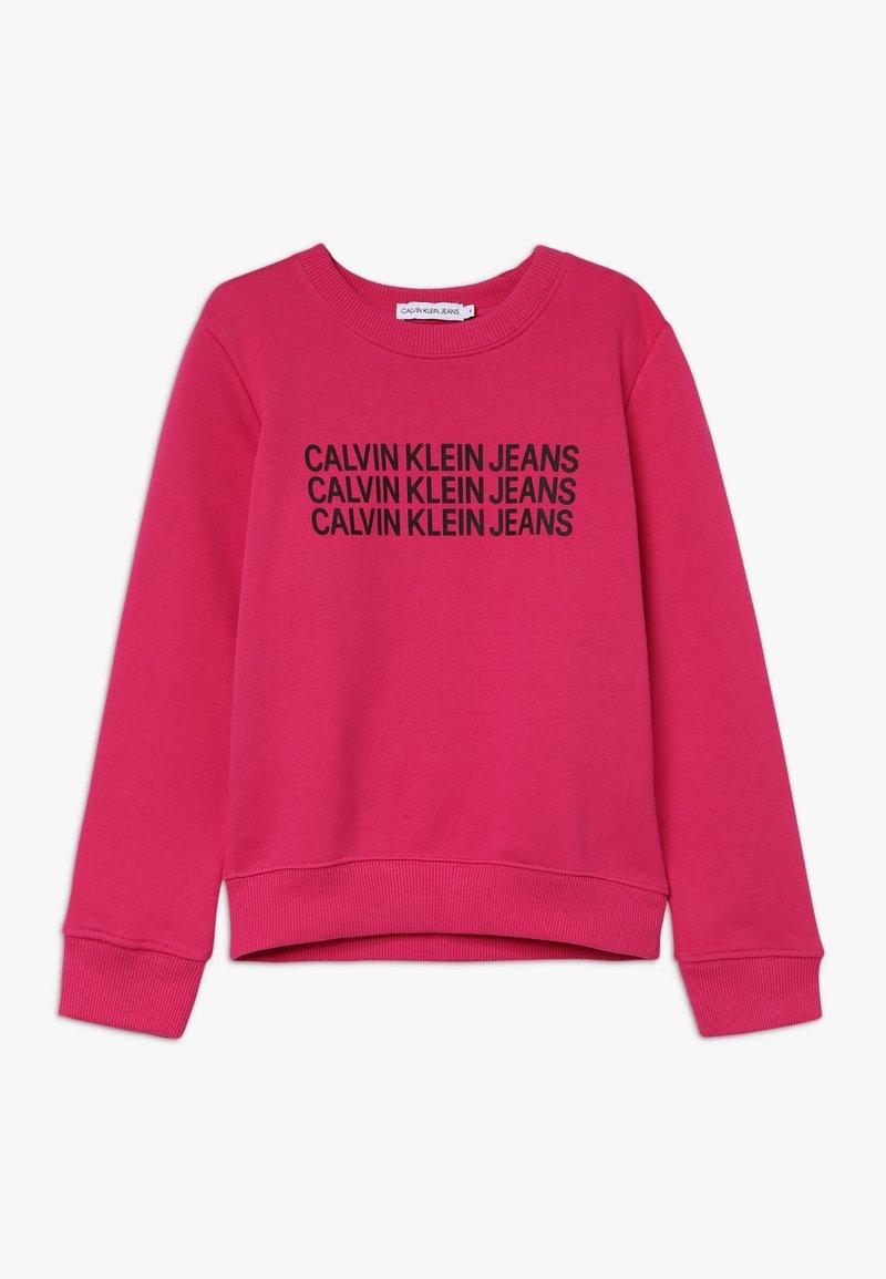 Calvin Klein Jeans - TRIPLE LOGO - Sweatshirt - purple