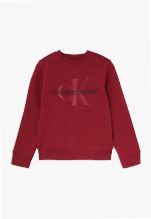 MONOGRAM CREW - Sweatshirt - red