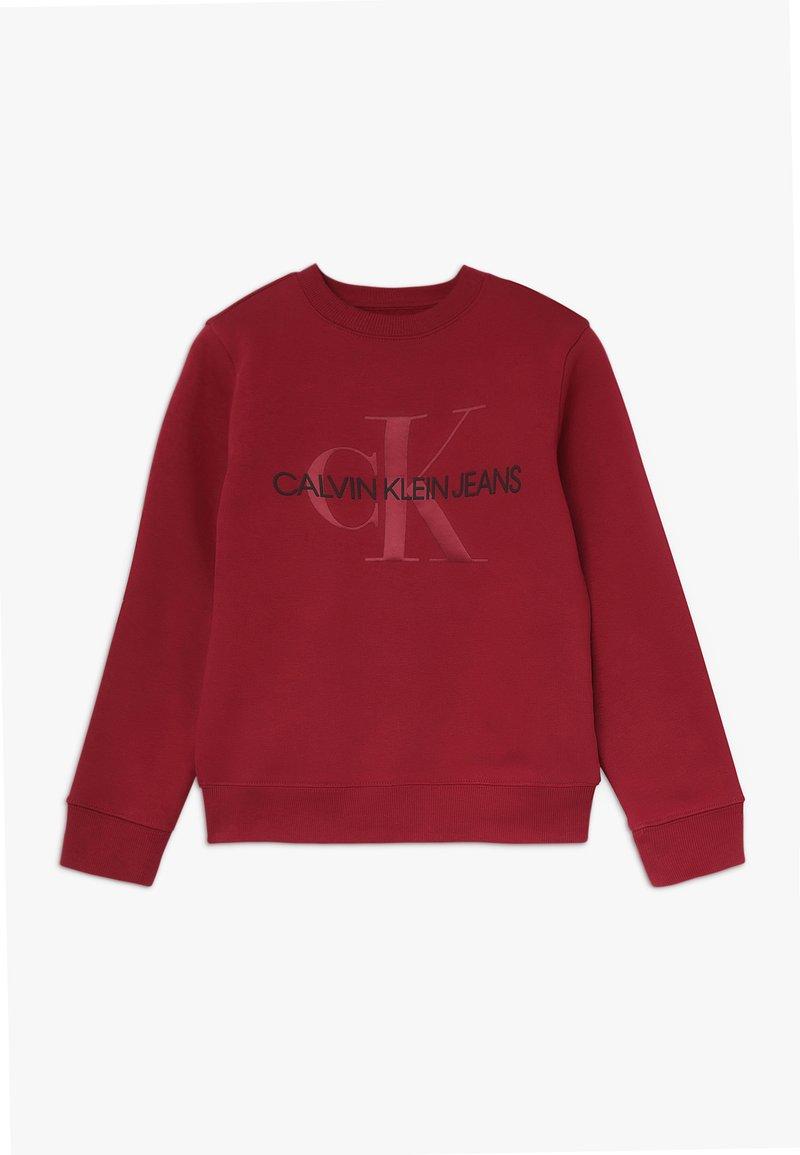 Calvin Klein Jeans - MONOGRAM CREW - Sweatshirt - red