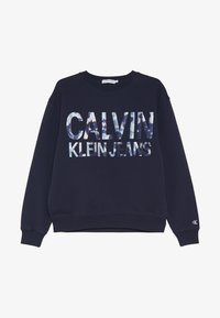 Calvin Klein Jeans - FLORAL LOGO OVERSIZED  - Sudadera - blue - 3