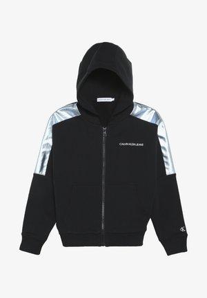 FOIL BLOCK RAGLAN ZIP HOODIE - Zip-up hoodie - black