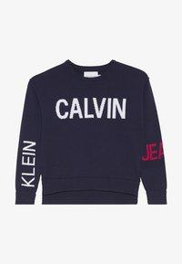 Calvin Klein Jeans - STAMP LOGO  - Jumper - blue - 4