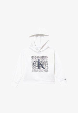 IRIDESCENT LOGO HOODIE - Bluza z kapturem - white