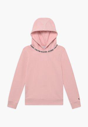 LOGO INTARSIA HOODIE - Hoodie - pink
