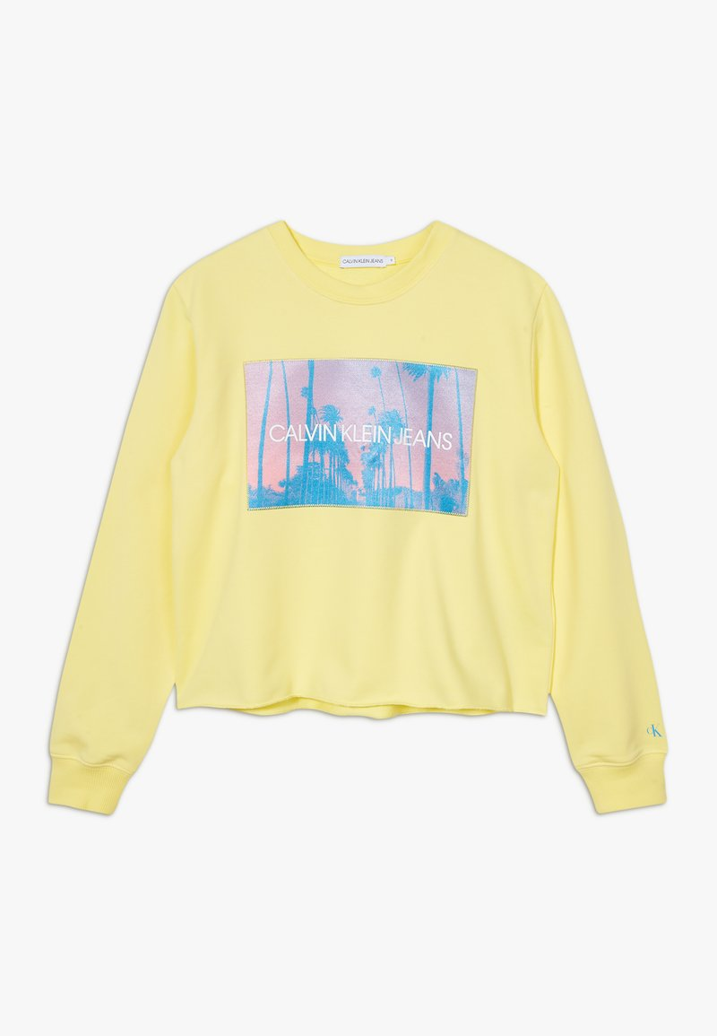 Calvin Klein Jeans - PHOTO PRINT SWEATSHIRT - Collegepaita - yellow