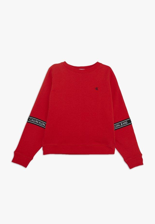 LOGO TAPE  - Sweatshirt - red
