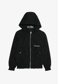 Calvin Klein Jeans - LIGHT PADDED HOOD JACKET GIRLS - Vinterjacka - black - 5