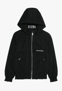 Calvin Klein Jeans - LIGHT PADDED HOOD JACKET GIRLS - Vinterjacka - black - 0