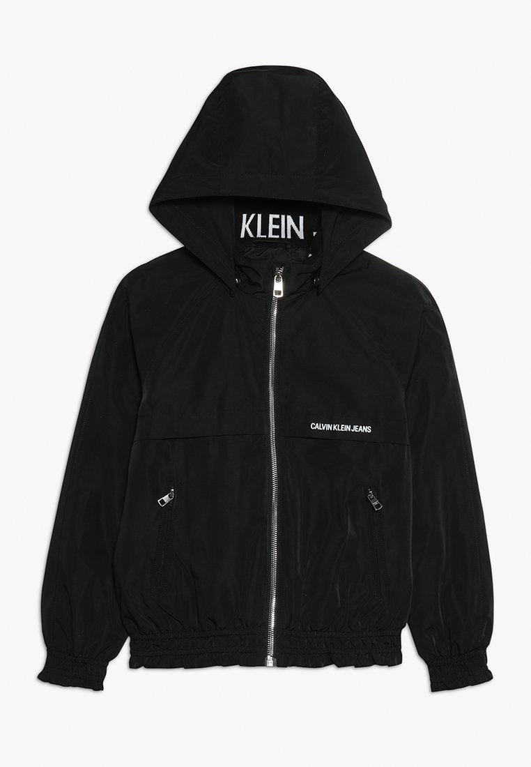 Calvin Klein Jeans - LIGHT PADDED HOOD JACKET GIRLS - Vinterjacka - black