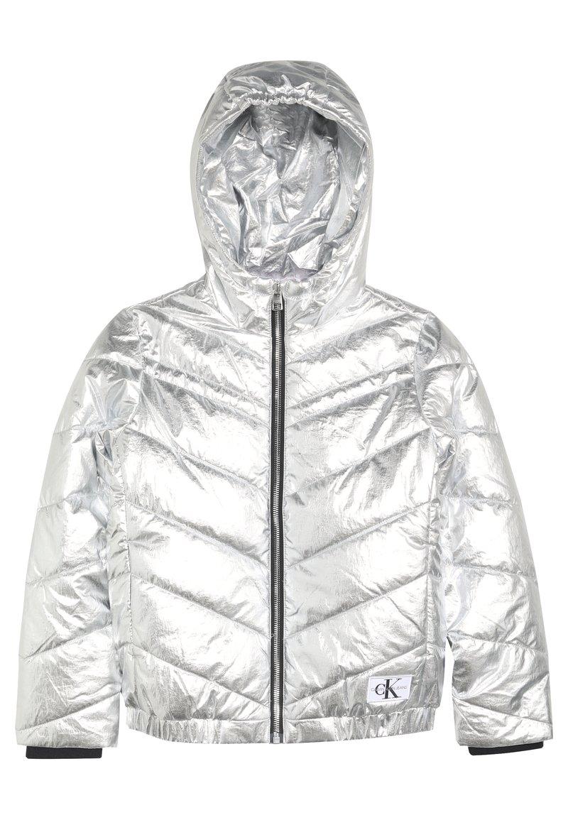 Calvin Klein Jeans - LIGHT HOOD BOMBER GIRLS - Chaqueta de invierno - silver