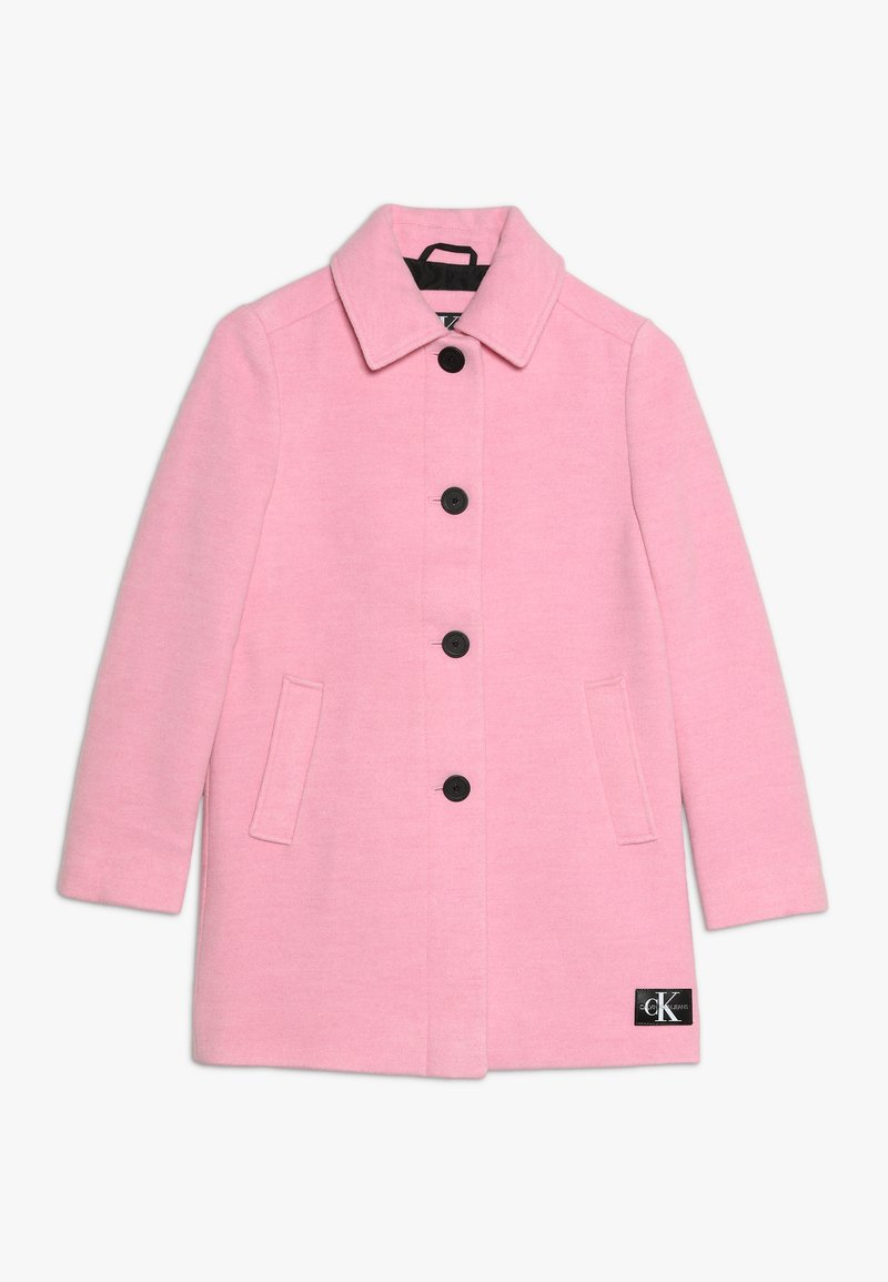 Calvin Klein Jeans - A-LINE SHORT COAT GIRLS - Classic coat - pink