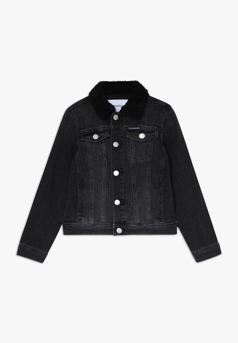 Calvin Klein Jeans - TRUCKER GIRLS - Džínová bunda - denim