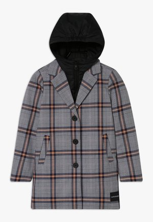 TAILORED CHECK COAT - Winter coat - grey