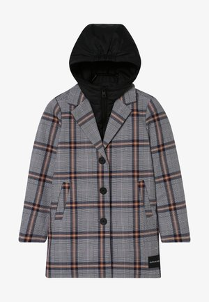 TAILORED CHECK COAT - Vinterkappa /-rock - grey