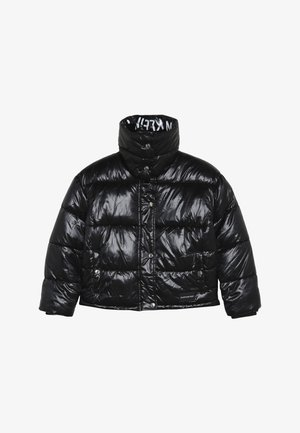 BOXY LOGO PUFFER JACKET - Winter jacket - black
