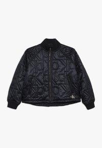 Calvin Klein Jeans - MONOGRAM JACKET - Bomberjacka - black - 0