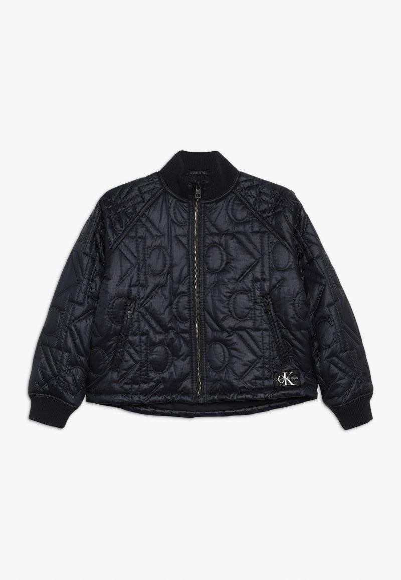 Calvin Klein Jeans - MONOGRAM JACKET - Bomberjacka - black