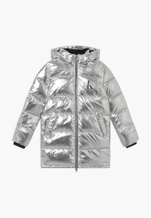 PUFFER LONG - Abrigo de invierno - silver metallic
