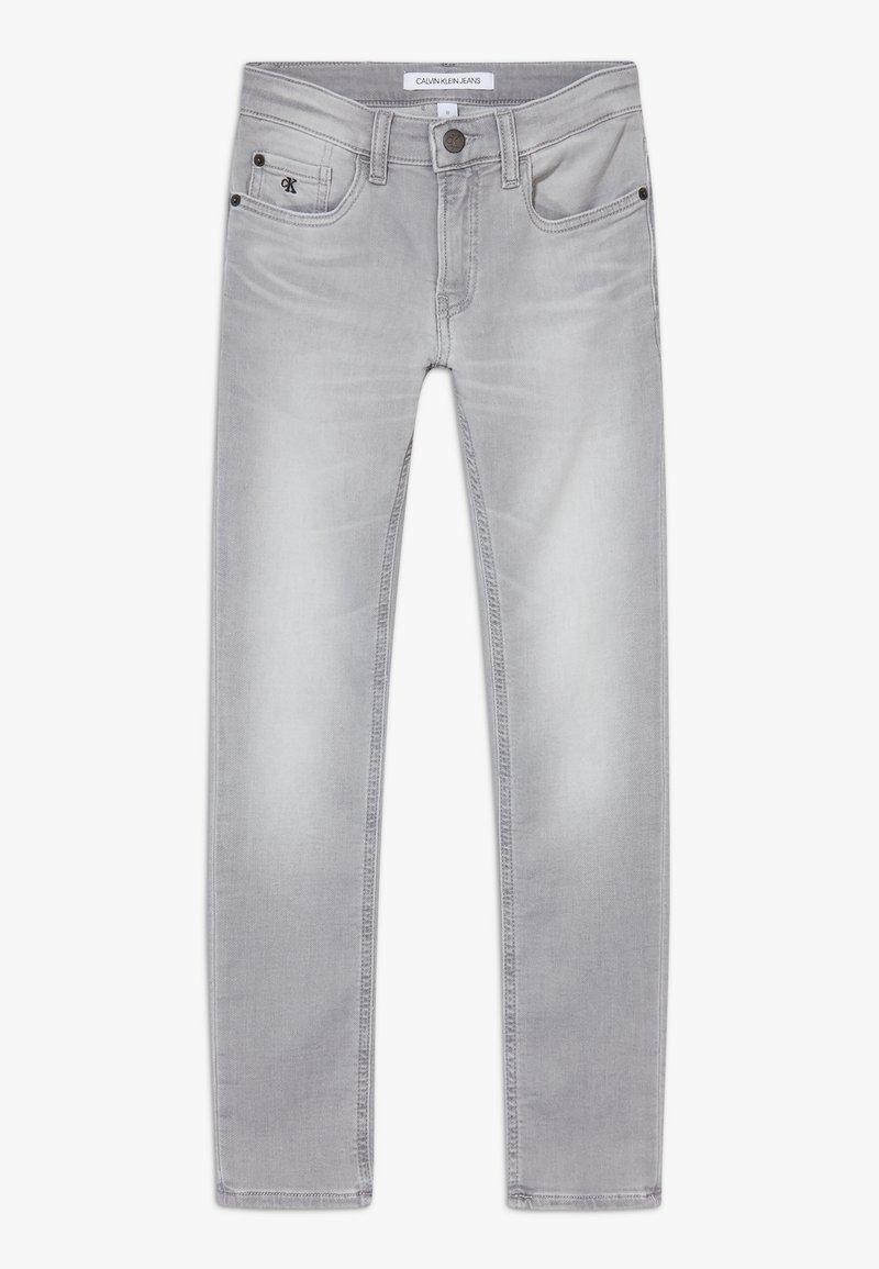 Calvin Klein Jeans - SKINNY ATH SOFT GREY STRETCH - Skinny-Farkut - grey
