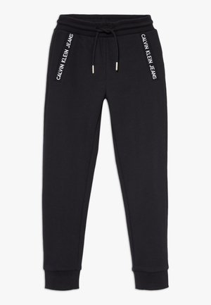 LOGO INTARSIA  - Pantalon de survêtement - black