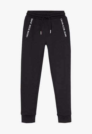 LOGO INTARSIA  - Tracksuit bottoms - black