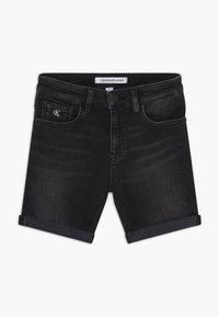 Calvin Klein Jeans - SLIM - Shorts di jeans - black - 0