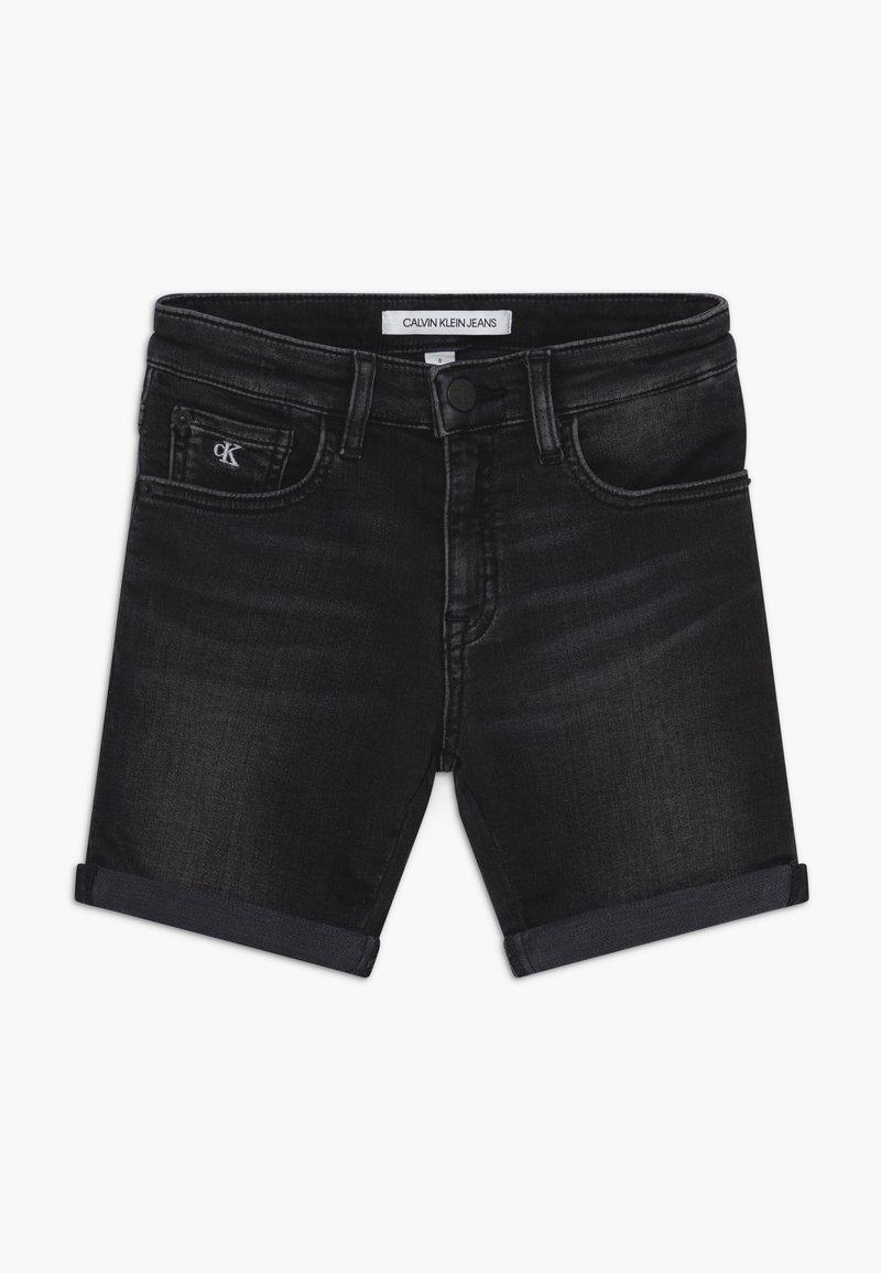 Calvin Klein Jeans - SLIM - Shorts di jeans - black