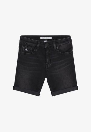 SLIM - Denim shorts - black