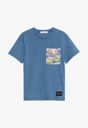 INDIGO DYE PHOTO TEE - T-shirt imprimé - blue