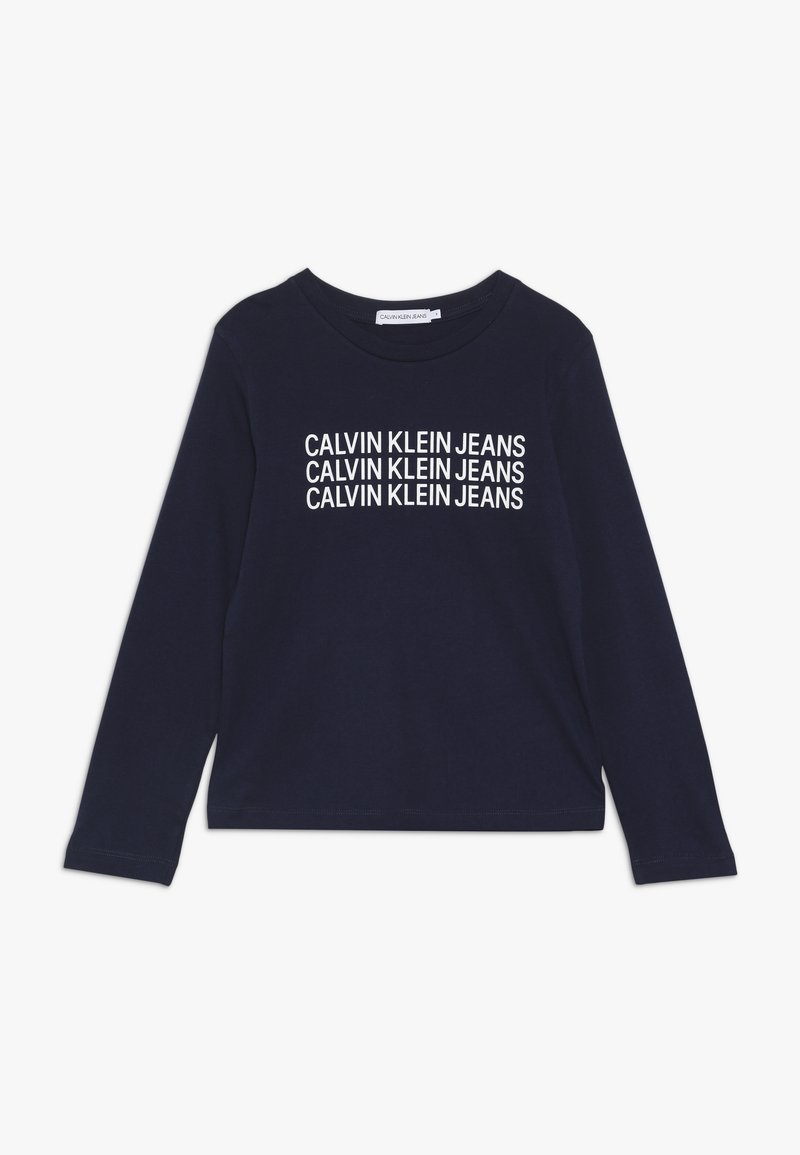 Calvin Klein Jeans - TRIPLE LOGO  - Long sleeved top - blue