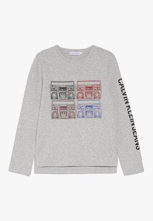 RADIO PRINT - T-shirt à manches longues - grey