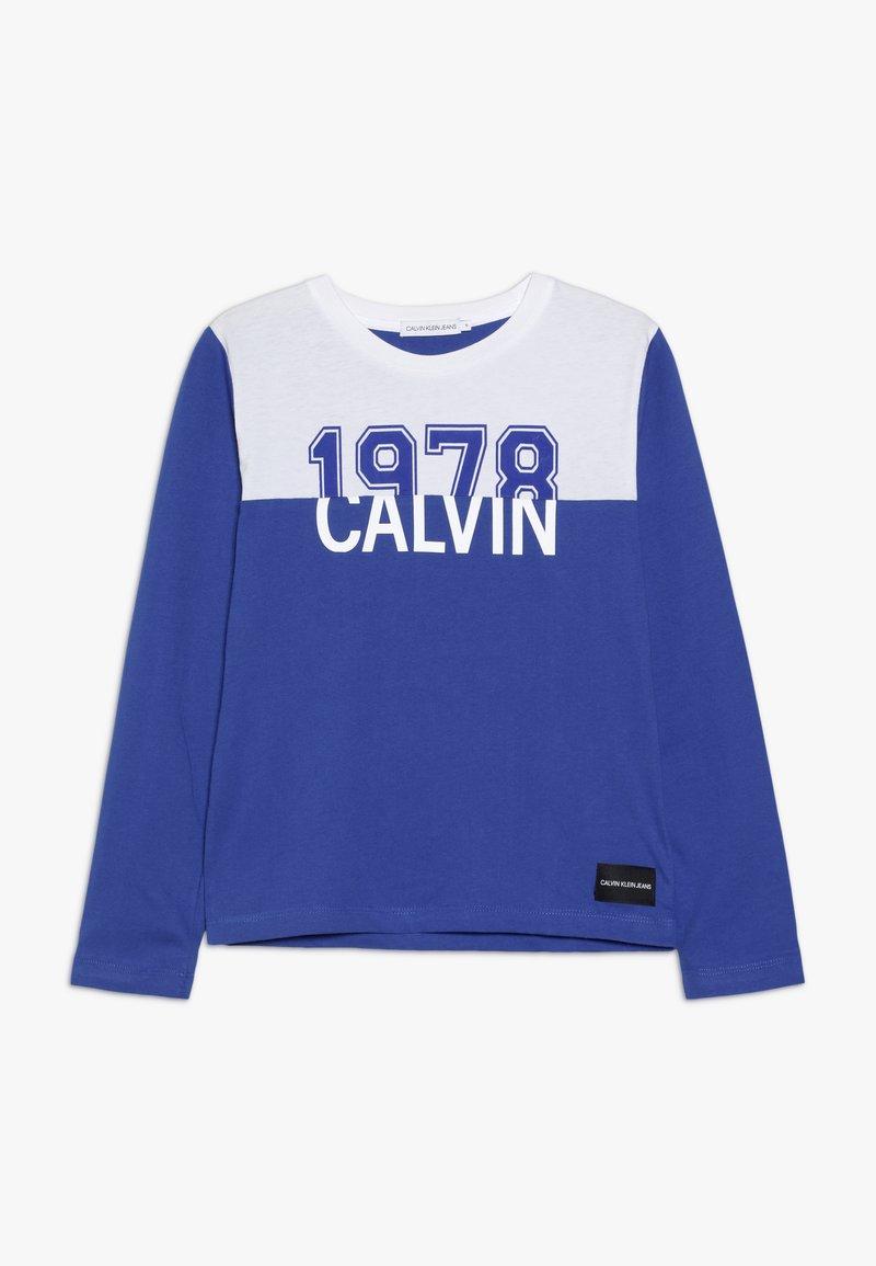 Calvin Klein Jeans - COLOUR BLOCK 1978  - Top sdlouhým rukávem - blue