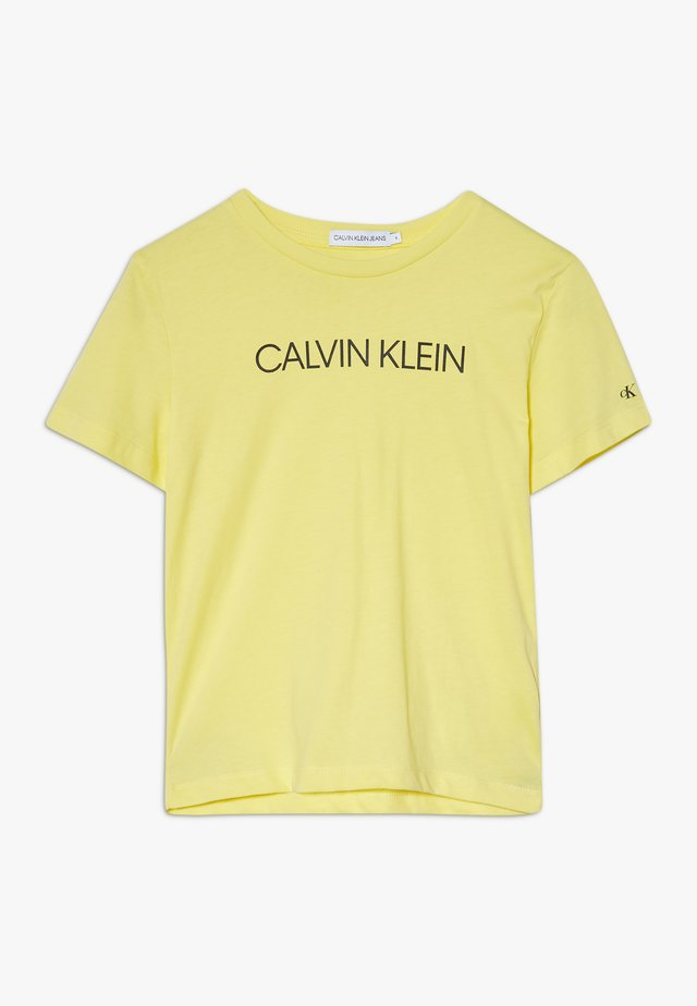 INSTITUTIONAL  - T-shirt imprimé - yellow