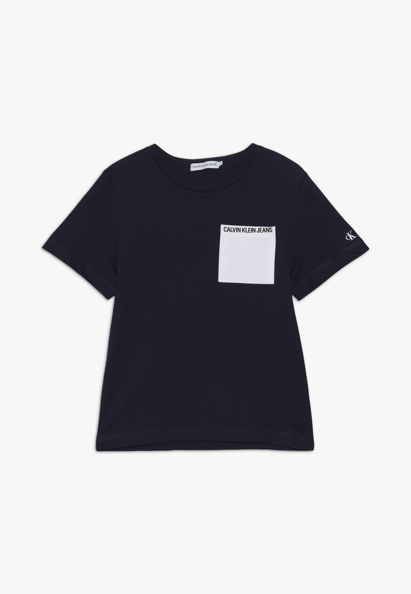 Calvin Klein Jeans - CONTRAST POCKET - T-shirt con stampa - blue