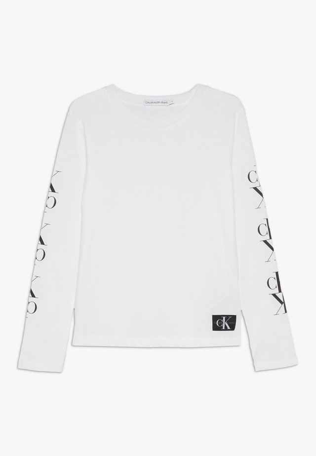 MIRROR MONOGRAM  - Long sleeved top - white