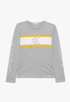 LOGO COLOUR BLOCK  - Long sleeved top - grey