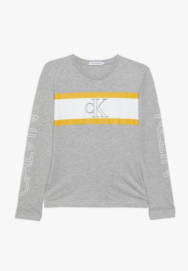 LOGO COLOUR BLOCK  - Pitkähihainen paita - grey
